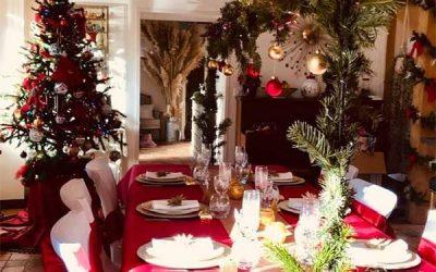 Décoration de table de Noël 2020
